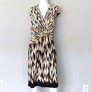 Roz & Ali Animal Print Sleeveless Dress. sz 18